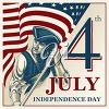 Clipart Image for the 4th of July