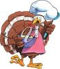 Clipart Image of a Thanksgiving Turkey Chef - Royalty Free Clip Art Illustration