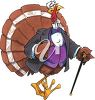 Clipart Image of a Dapper Thanksgiving Turkey - Royalty Free Clip Art Illustration