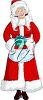 Clipart Image of Mrs Claus
