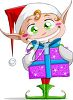 Clipart Image of a Christmas Elf