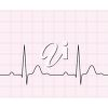 Clipart Image of an ECG Heartbeat for Valentine's Day