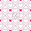 Clipart Image of a Tiling Background of Hearts