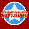 "Clipart Illutration of a ""Superdad"" Design"
