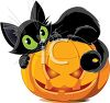 Halloween Clipart Image of a Black Cat