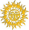 Free Clipart Picture of Tribal Sun God