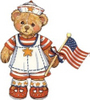 Patriotic Teddy Bear clipart