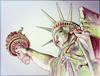 Colorful Statue of Liberty clipart