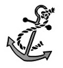 Free Clipart Picture of a Boat Anchor