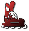 Free Clipart Picture of a Red Rollerblade