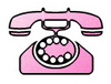 Free Clip Art Picture of a Pink Princess Telephone. Click Here to Get Free Images at Clipart Guide.com