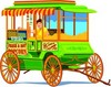 Free Clip Art Picture of an Old Fashioned Style Popcorn Wagon