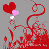 Free Valentine Clip Art of Swirls and Hearts