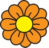 Flower with orange petals clipart