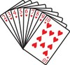 A Group Of White Hearts Playing Cards clipart