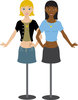 clip art image of a caucasian, and African American Mannequins On A Stand clipart
