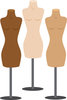 Illustration Of Body Mannequin's With No clothing On them  clipart