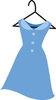 Illustration Of A Blue Dress On A Hanger clipart