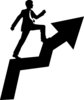 clip art silhouette of a businessman walking up a ladder to success clipart