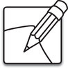 clip art illustration of a pencile and a piece of paper clipart