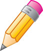 clip art image of a pencil with an eraser clipart