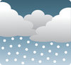 clip art image of a storm with rain clouds and rain coming down from the sky clipart