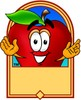 Cartoon Apple Character Logo clipart