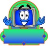 Cartoon Computer Character Logo clipart