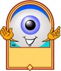 Cartoon Eyeball Character Logo clipart