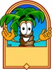 Cartoon Palm Tree Character Logo clipart
