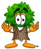 Stock Clipart Image of a Cartoon Tree Character