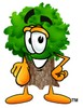 Cartoon Tree Character Pointing clipart