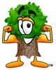 Strong Cartoon Tree Character With Muscles clipart