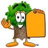 Cartoon Tree Character With a Manilla Envelope clipart