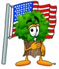 Cartoon Tree Character Singing The Pledge of Allegiance clipart
