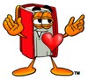 Cartoon Book Character With a Heart clipart