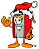 Cartoon Book Character Wearing a Santa Clause Hat clipart