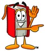 Cartoon Book Character Pointing To The Side clipart