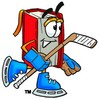 Cartoon Hockey Book Character clipart