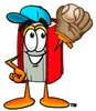 Cartoon Baseball Book Character clipart