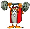 Cartoon Book Character Weight Lifting clipart