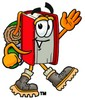 Cartoon Book Character Hiking clipart