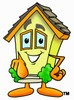 Cartoon House Character Pointing clipart