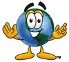 Cartoon Globe Character clipart
