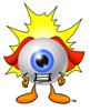 Cartoon Superhero Eye Ball Character clipart