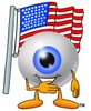 Cartoon Eye Ball Character During Pledge of Allegiance clipart