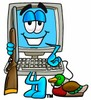 Cartoon Computer Character Hunting clipart