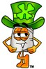 Cartoon Chef Hat Character Wearing Saint Patrick