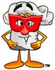 Cartoon Chef Hat Character Wearing a Face Mask clipart
