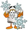 Cartoon Chef Hat Character with Snowflakes clipart